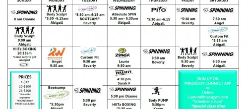 2016 GROUP FITNESS SCHEDULE