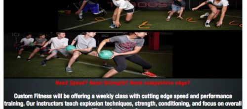 Speed and Agility for school athletes on Thursdays
